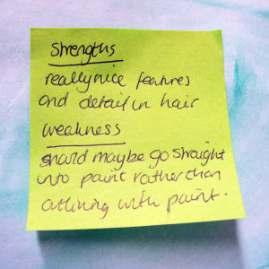 Collecting feedback with post-its