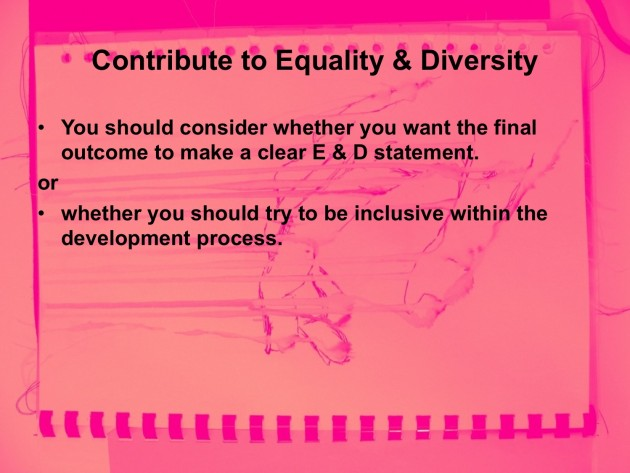 Equality and Diversity Student Manifesto art and design education