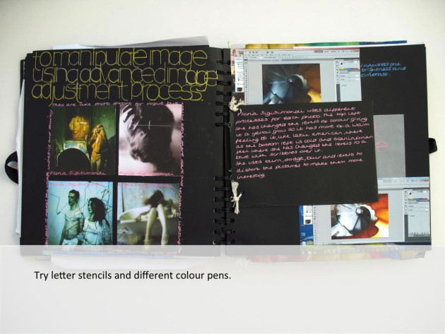 writing creatively in sketchbooks