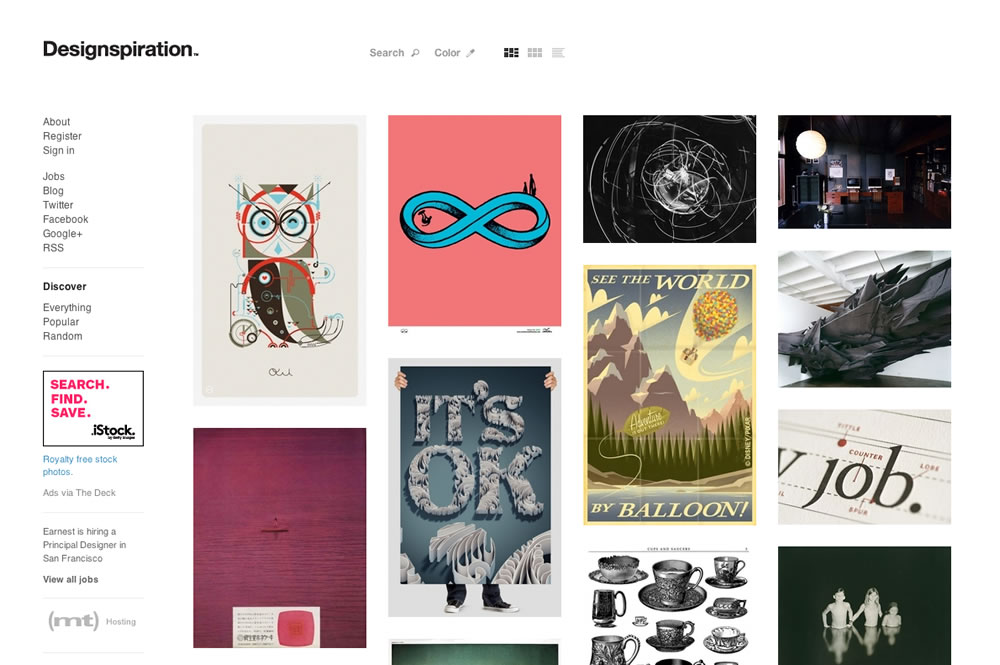 Mood Boards Online in Education for Art and Design